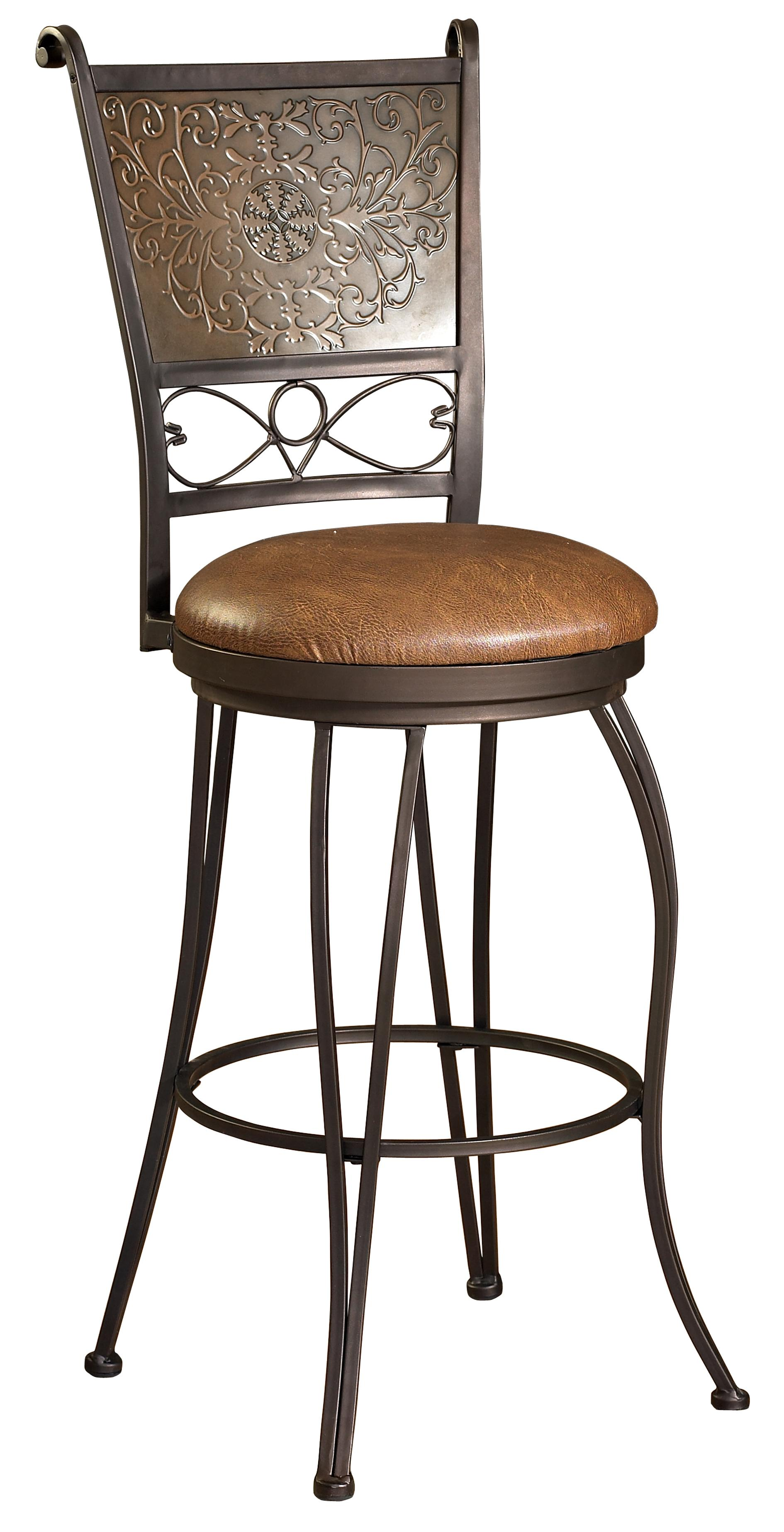 Powell Bar Stools & Tables 30 inch Stamped Back Bar Stool - Item Number: 222-847