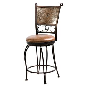 24 Inch Stamped Back Counter Stool
