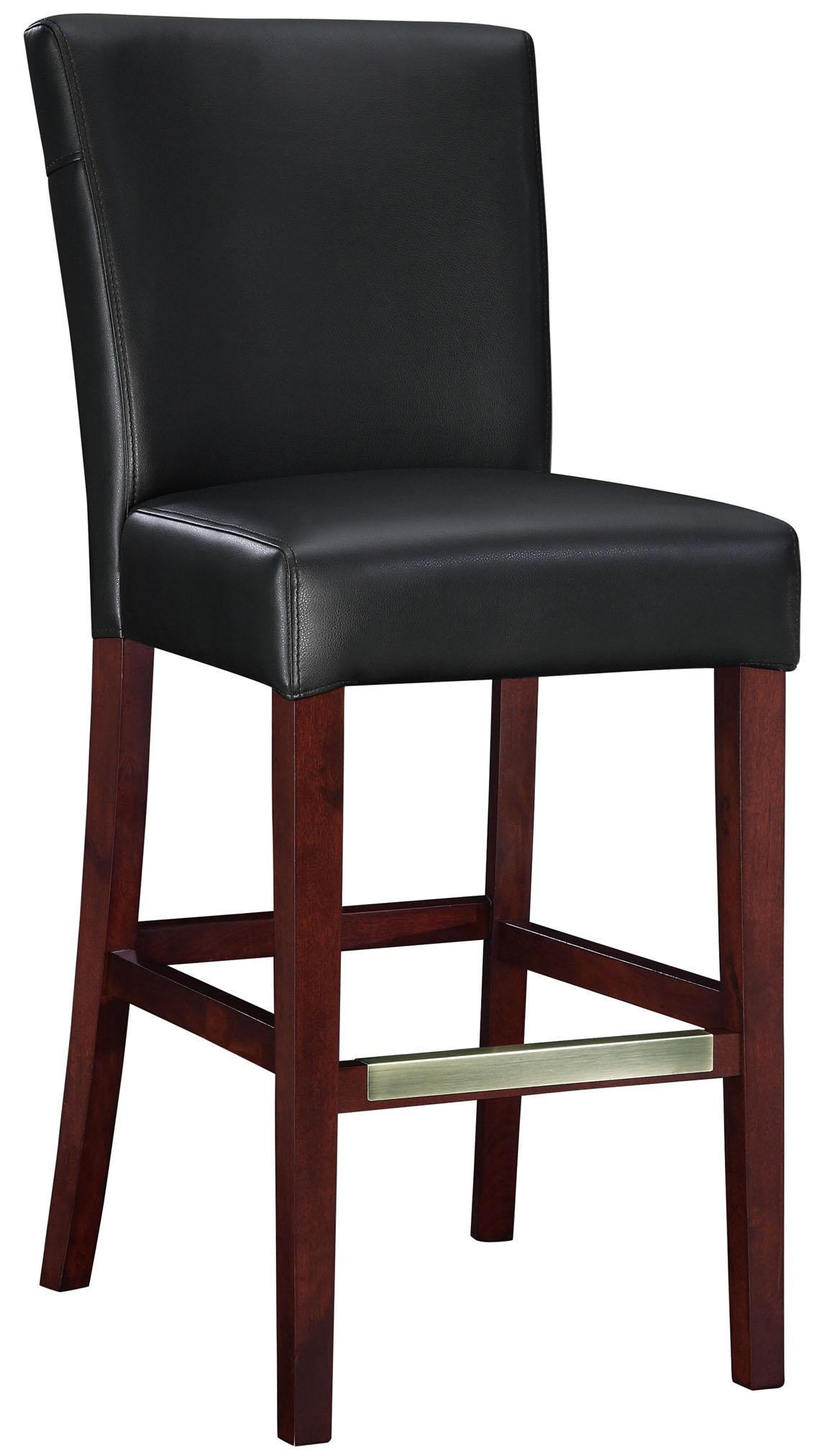 Powell Bar Stools & Tables Black Bonded Leather Bar Stool - Item Number: 273-847