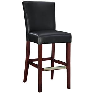 Powell Bar Stools & Tables Black Bonded Leather Bar Stool