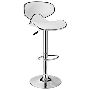 White Adjustable Barstool