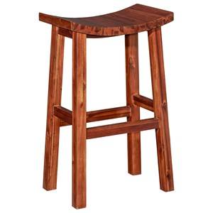 Powell Bar Stools & Tables Carmen Saddle Bar Stool