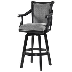 Ronan Swivel Barstool Black