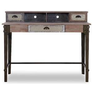 Industrial Double Pedestal Desk with Wire Management