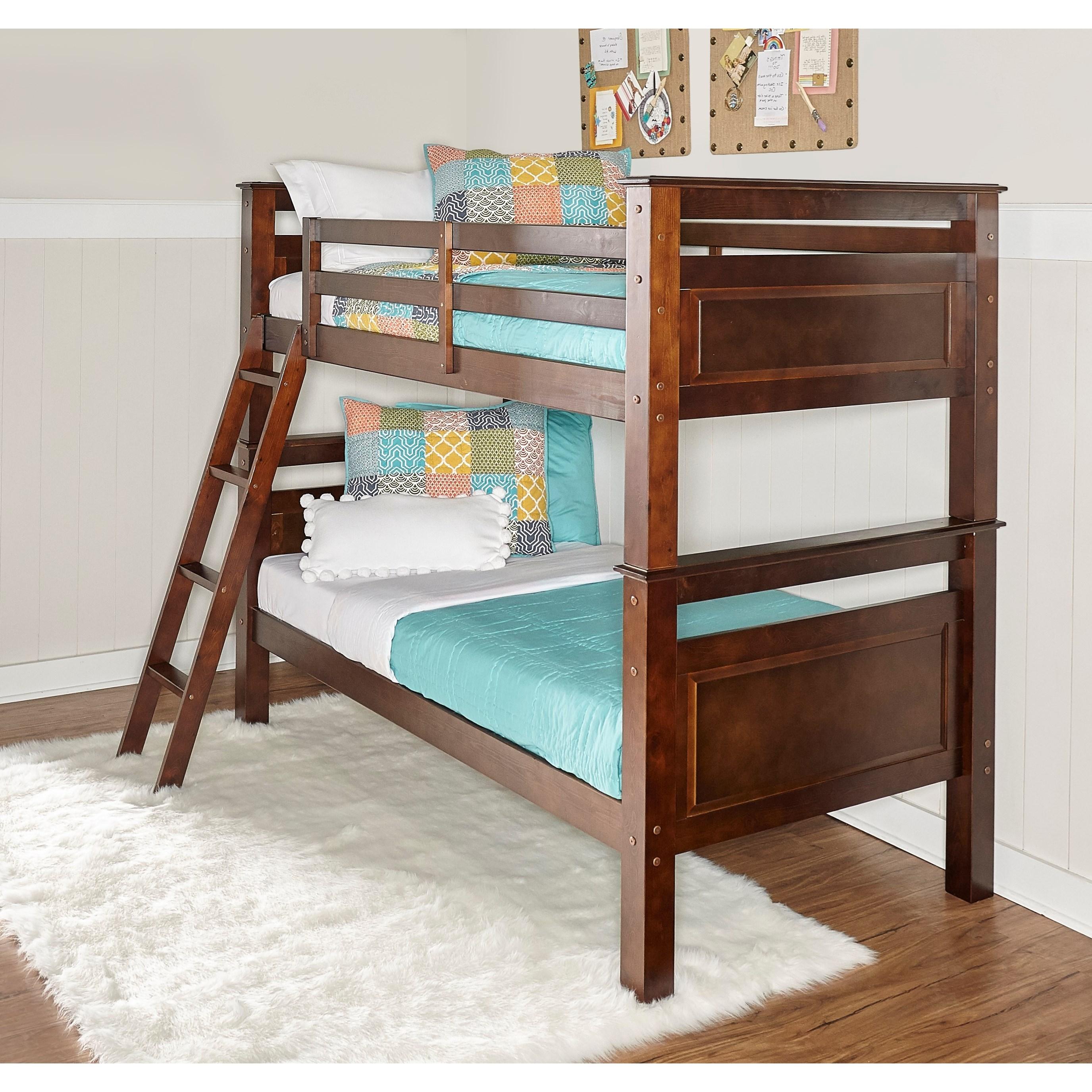 Powell Beckett Children S Twin Over Twin Bunk Bed Wayside Furniture Bunk Beds