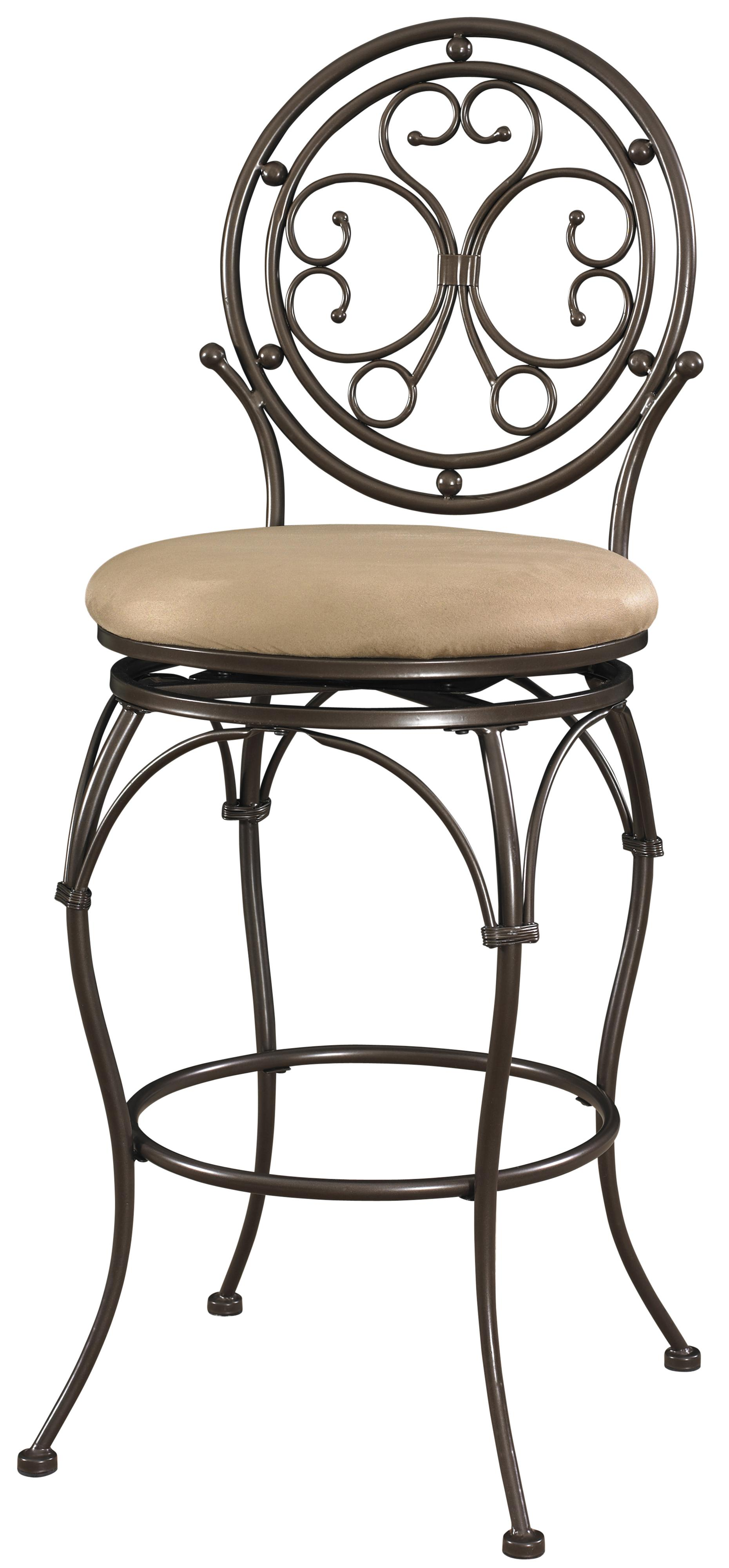 Powell Big and Tall Circle Back Barstool - Item Number: 586-847