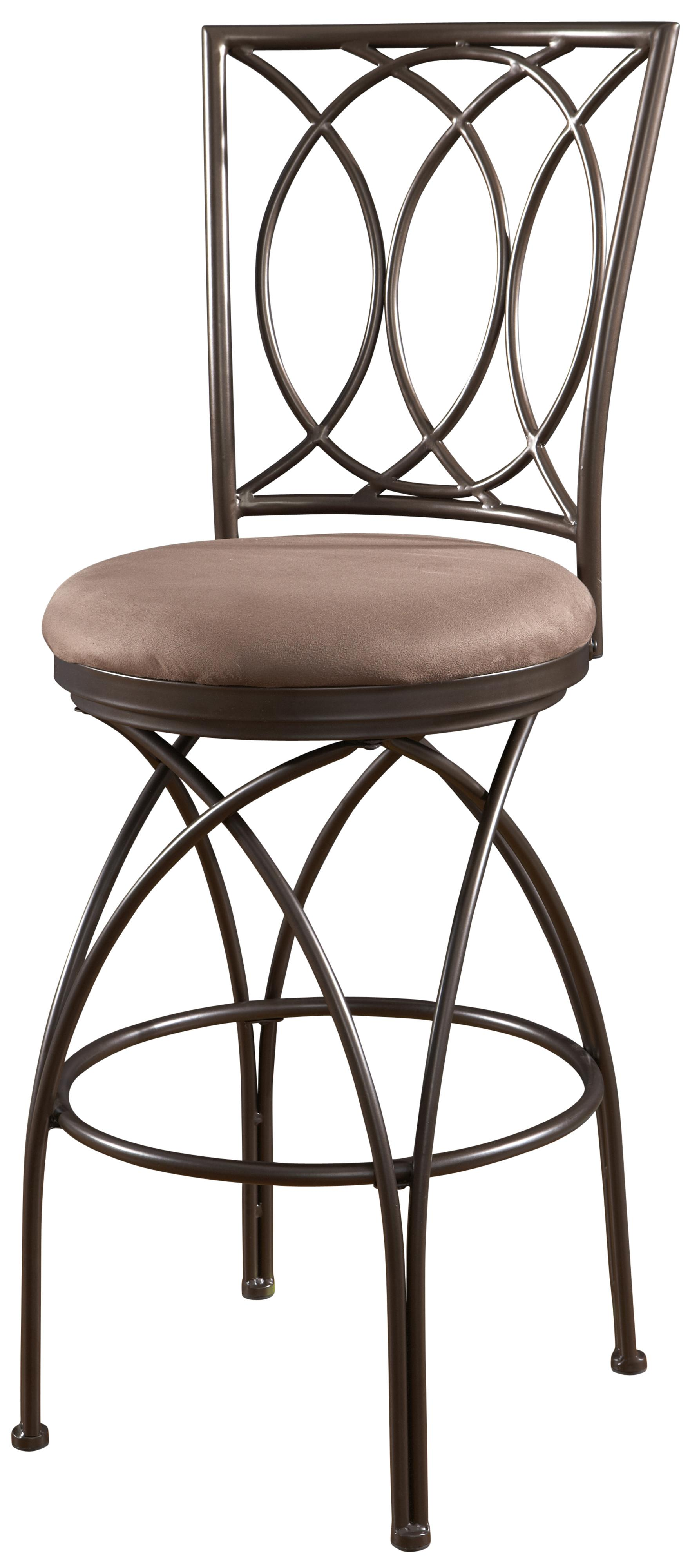 Powell Big and Tall Metal Crossed Legs Bar Stool - Item Number: 586-851