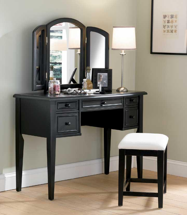 Powell Black Vanity - Item Number: 502-290