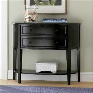 Powell Black Demilune Console Table