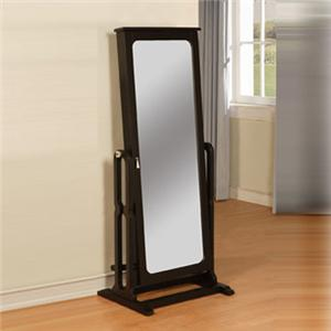 Powell Black Floor Mirror