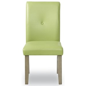 Transitional Dining Side Chair with Upholstered Seat and Back