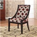 Powell Classic Seating Mulberry & Grey High Back Accent Chair - 502-822 - Shown in Home Setting