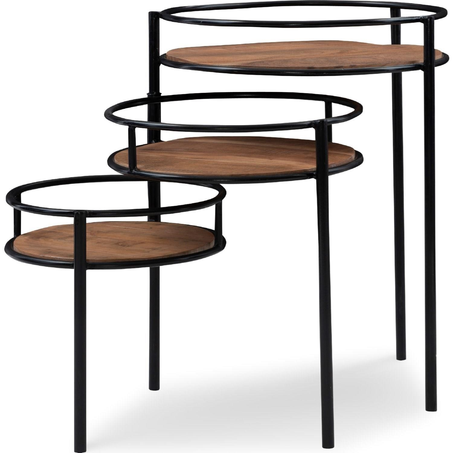 Powell Collis Transitional Plant Stand Side Table With Three Tiers A1 Furniture Mattress End Tables