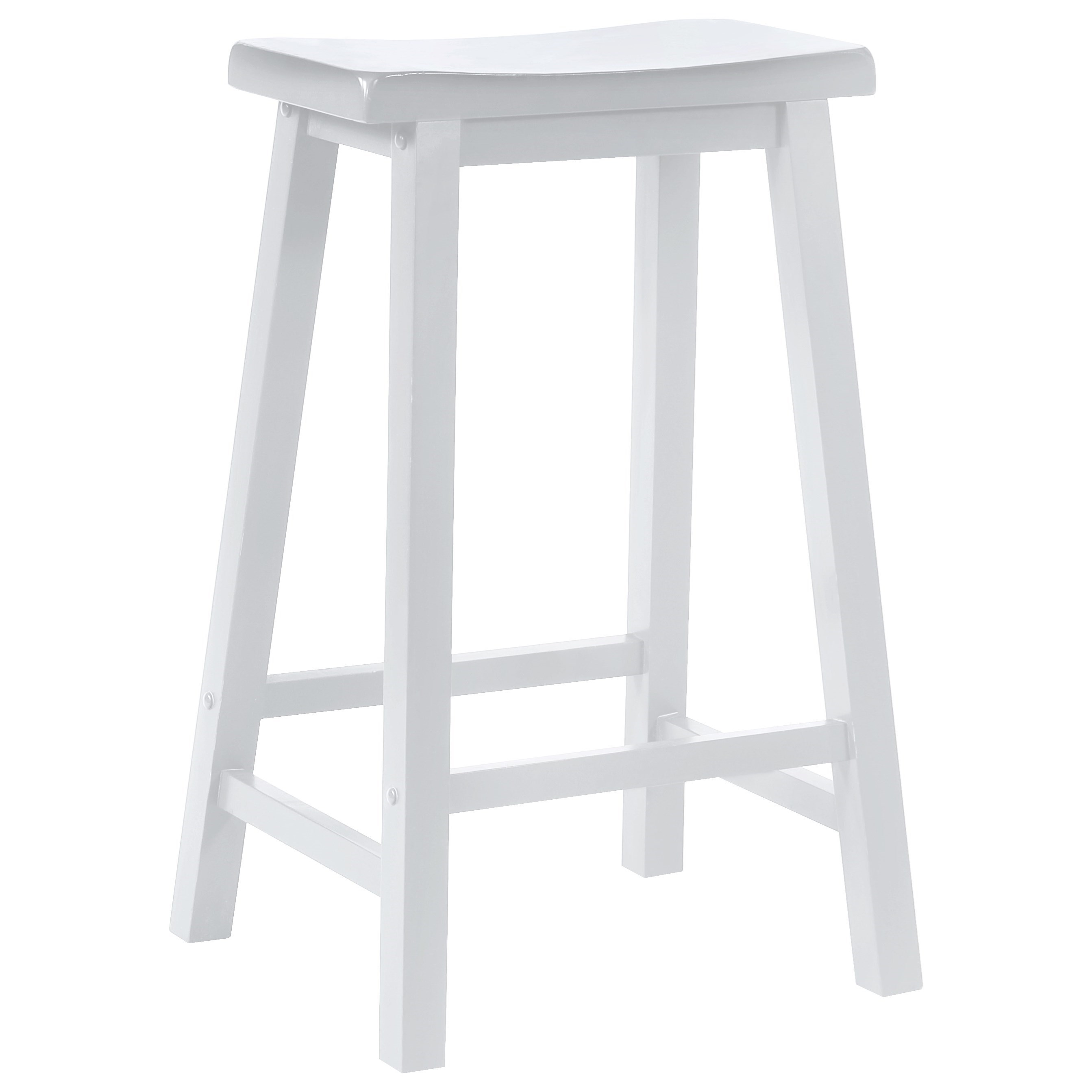 white saddle bar stools. Powell Color Story White Saddle Bar Stool - Item Number: 270-431 Stools C