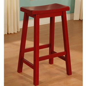 Red Saddle Bar Stool