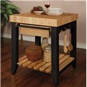 Powell Color Story Butcher Block Kitchen Island - Shown in Alternate Room Setting