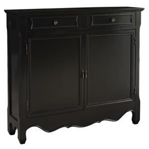 Powell Consoles  Black 2-Door Console
