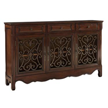 Powell Consoles  3 Door Metal Look Console - Item Number: 246-335