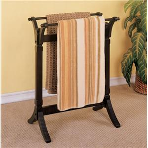 Powell Contemporary Merlot Blanket Rack