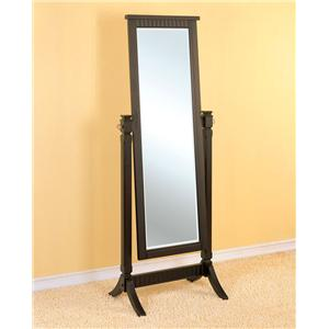 Powell Contemporary Merlot Floor Mirror