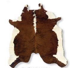 Powell Cow Hide Brown White Rug