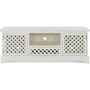 Farmhouse TV Cabinet with Cord Access Hole