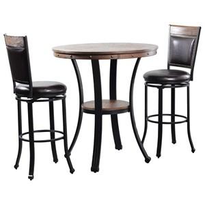 Powell Franklin Franklin Pub Table 3 Piece