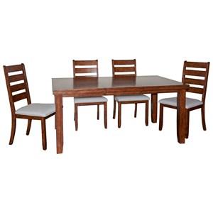 Powell Gavin Gavin Wood Dining Set - 5 Pc