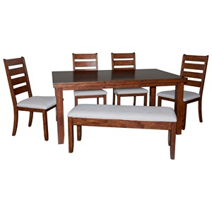 Gavin Wood 6PC Dining Set