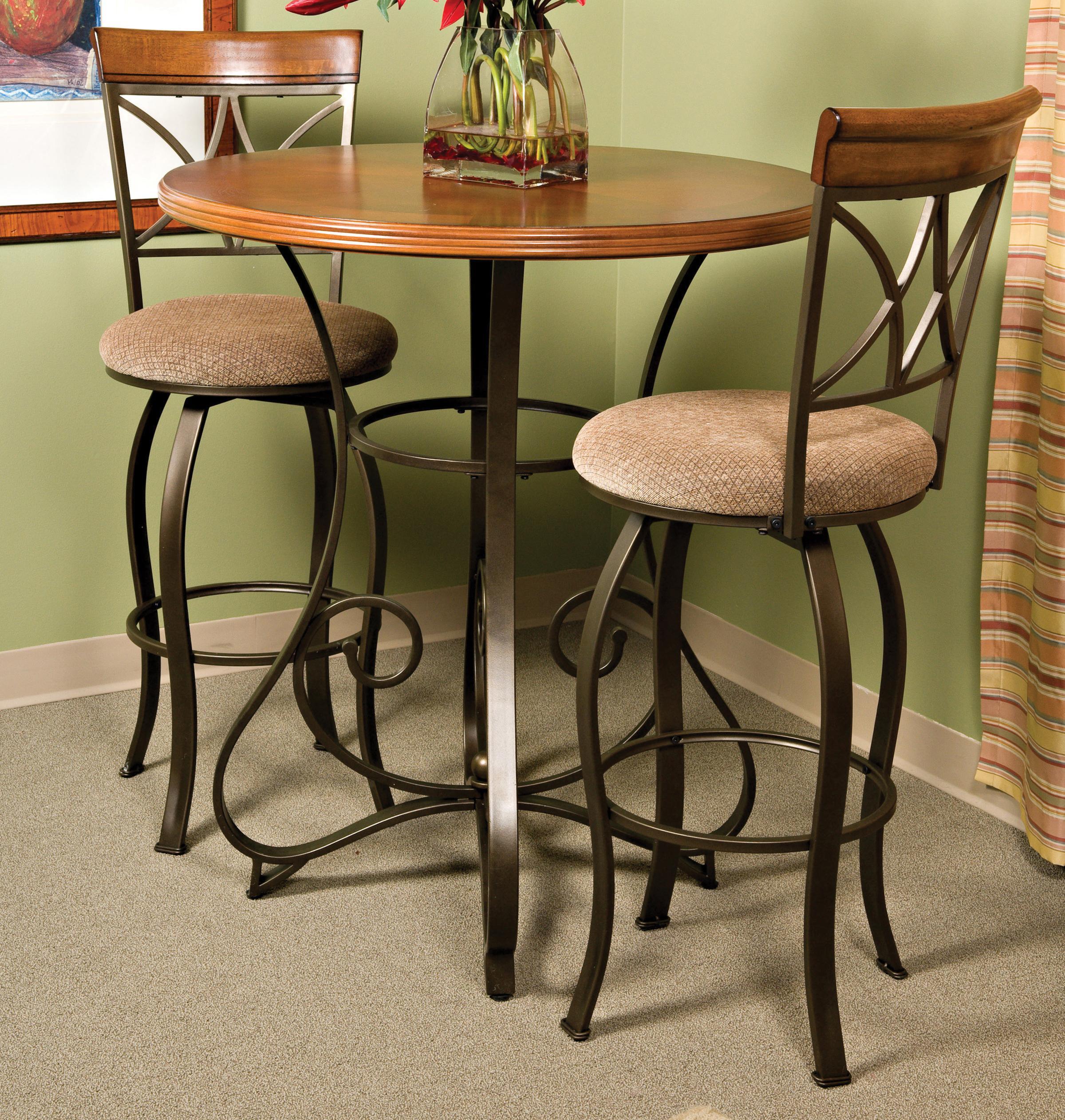 Powell Hamilton 3 Piece Pub Table Set - Item Number: 697-404+2x481