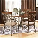 Powell Hamilton 5 Piece Dining Table Set - Item Number: 697-413+4x434