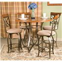 Powell Hamilton Gathering Table - Shown with Coordinating Swivel Bar Stools