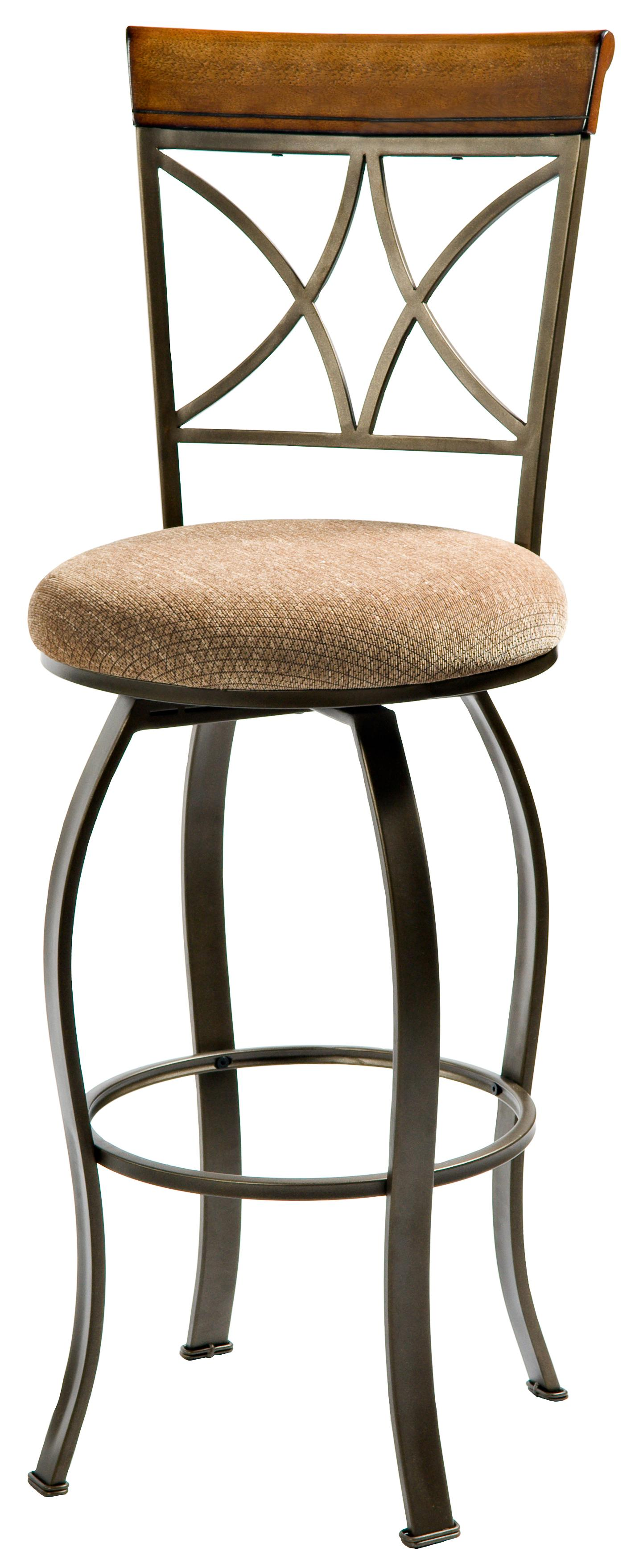 Powell Hamilton Swivel Bar Stool - Item Number: 697-481