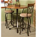 Powell Hamilton Swivel Bar Stool - Shown with Pub Table`