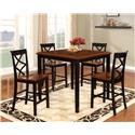 Powell Harrison 5 Piece Counter Height Dining Set - Item Number: 15D2002BL