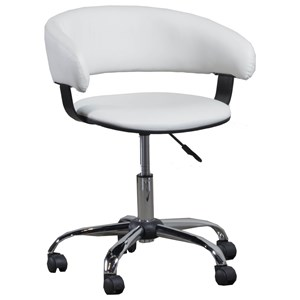 Powell Home Office White Gas Lift Desk Chair