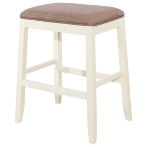 Jane Upholstered Saddle Stool