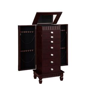 "Powell Jewelry Armoire Contemporary ""Merlot"" Jewelry Armoire"
