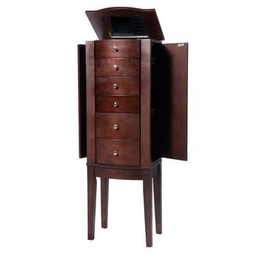 "Powell Jewelry Armoire ""Merlot"" Jewelry Armoire - Item Number: 398-315"