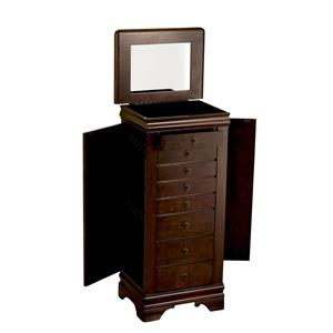 "Powell Jewelry Armoire Louis Phillipe ""Marquis Cherry"" Jewelry Armo"
