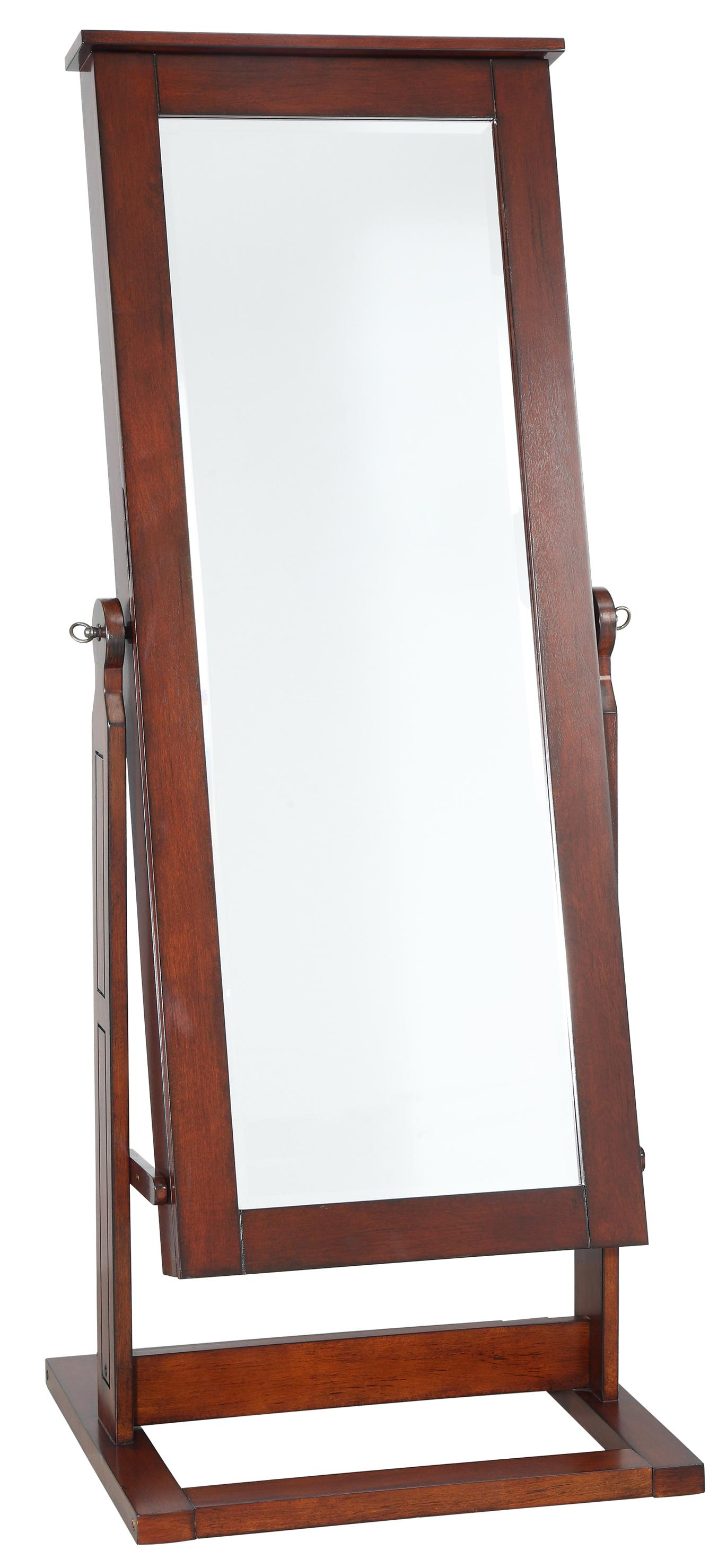 Powell Jewelry Armoire Walnut Cheval Jewelry Wardrobe - Item Number: 597-514