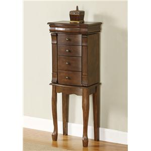 "Powell Jewelry Armoire Louis Philippe ""Walnut"" Jewelry Armoire"