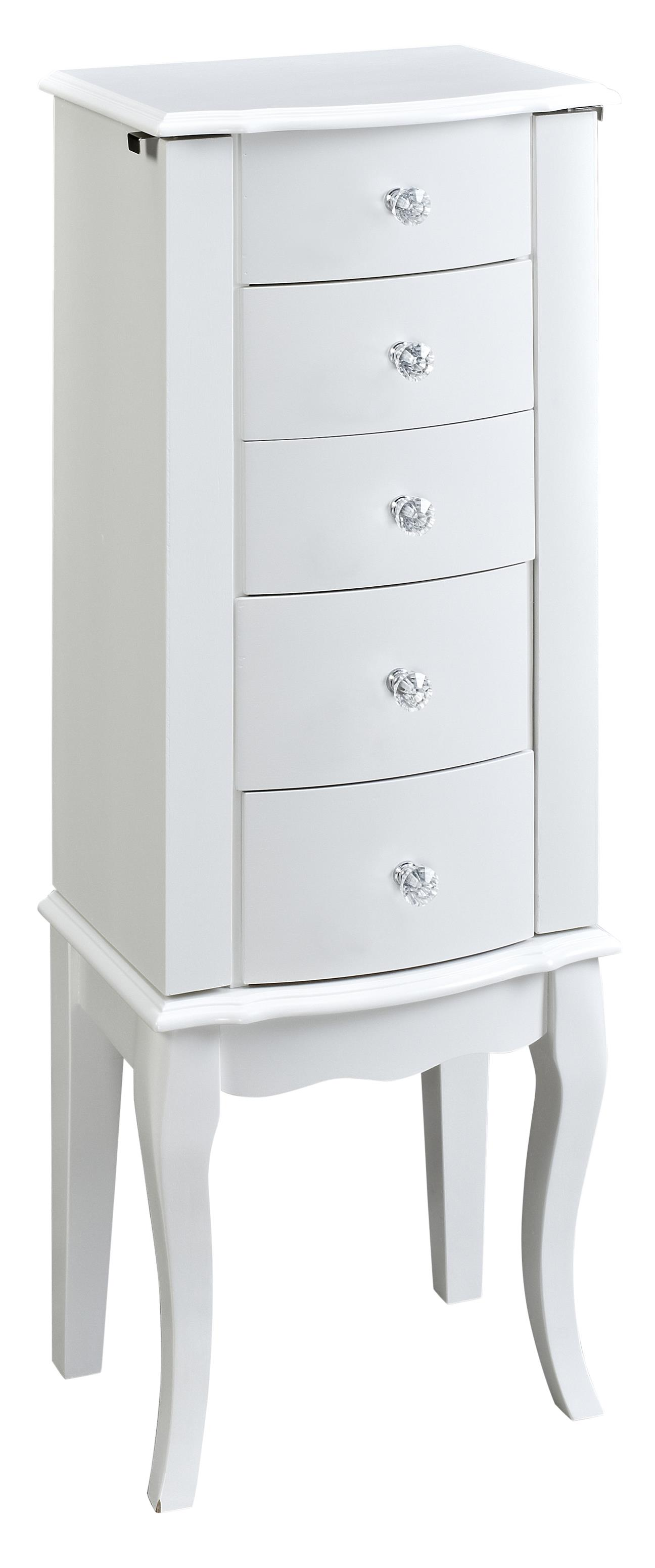 Powell Jewelry Armoire White Jewelry Armoire - Item Number: 929-521