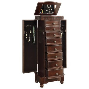 Powell Jewelry Armoire Murphy Coffee Jewelry Armoire
