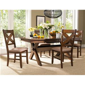 Powell Kraven 5 Piece Dining Set