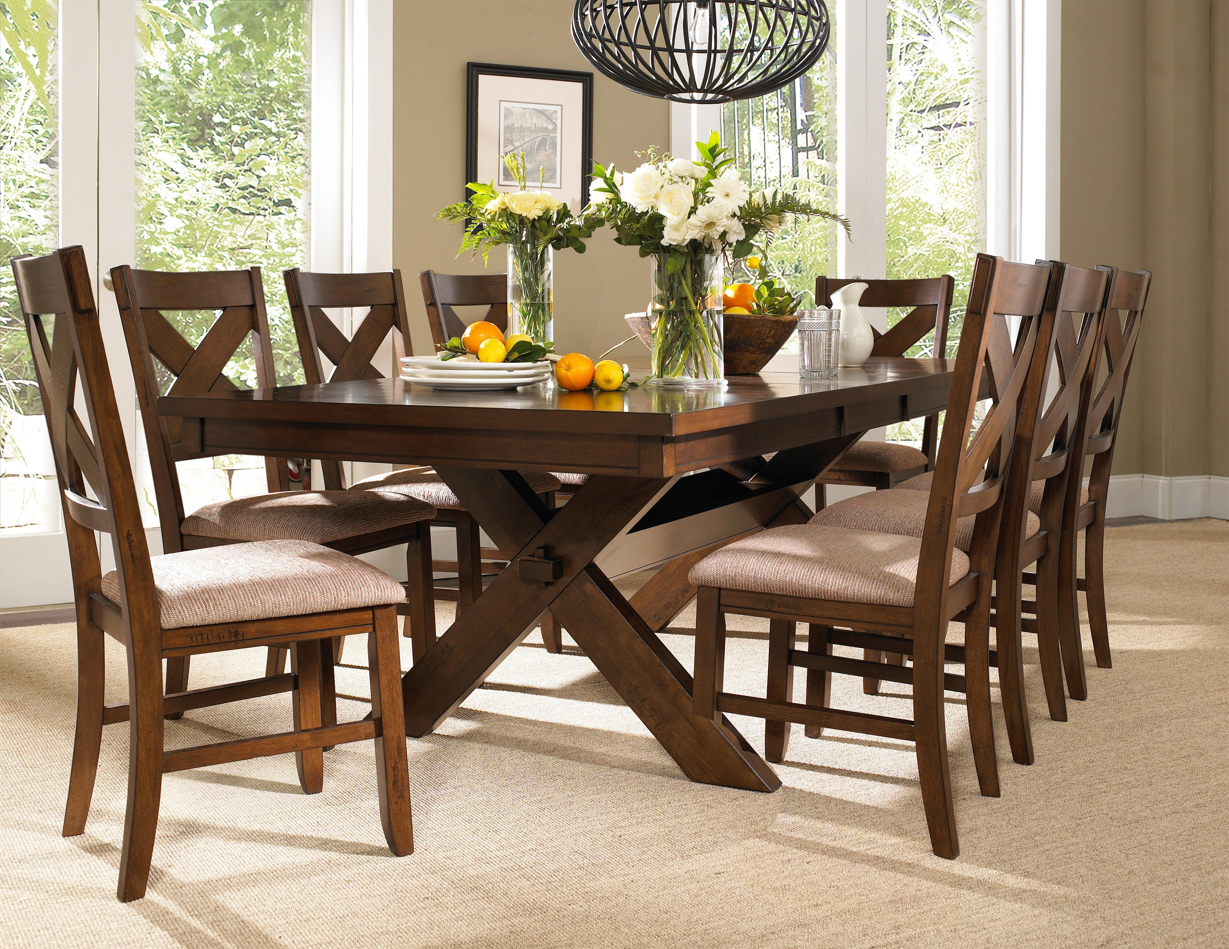 Powell Kraven 9 Piece Dining Set - Item Number: 713-417M3