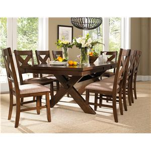 Powell Kraven 9 Piece Dining Set