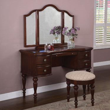 Powell Marquis Cherry Vanity, Mirror & Bench - Item Number: 508-290