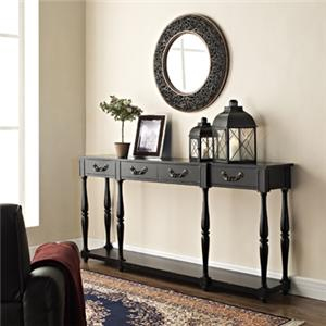 Powell Accents Black Console