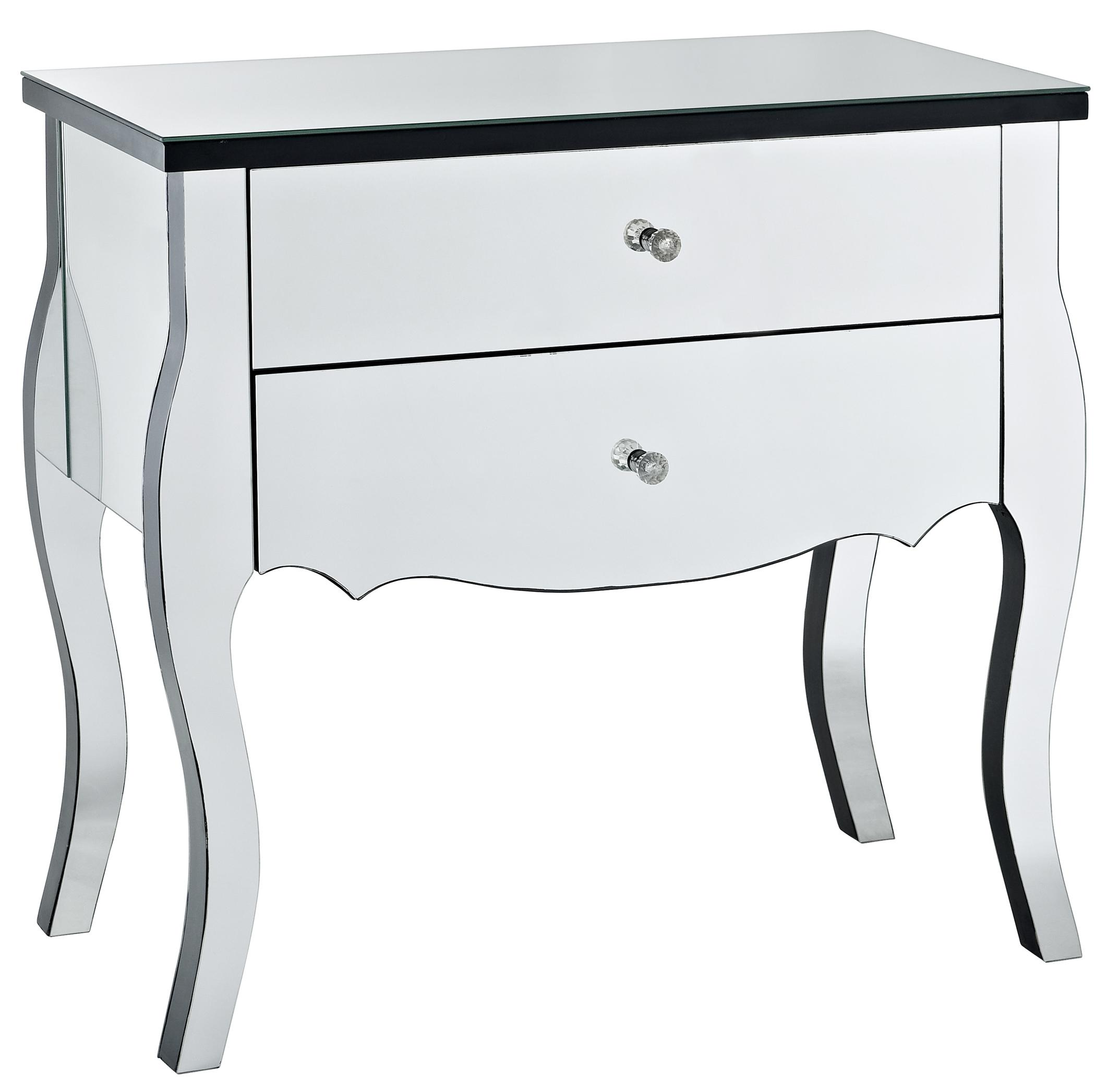 Powell Accents Mirrored 2 Drawer Console - Item Number: 233-515